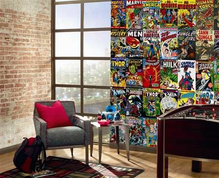 Superhero Wall Murals The Marvel Comic Book Cover Mural Makes for