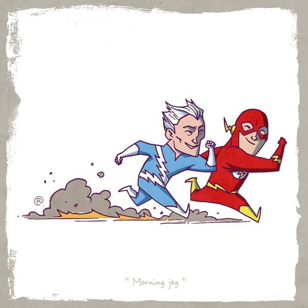 Rival Superhero Illustrations