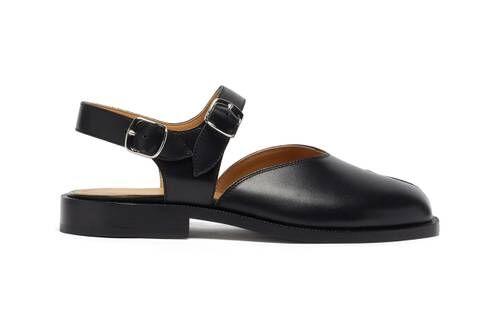 Split Toe Leather Mary Janes