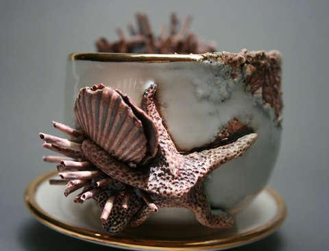 Crustacean-Inspired Tea Sets