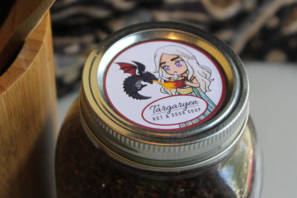 Medieval Mason Jar Labels