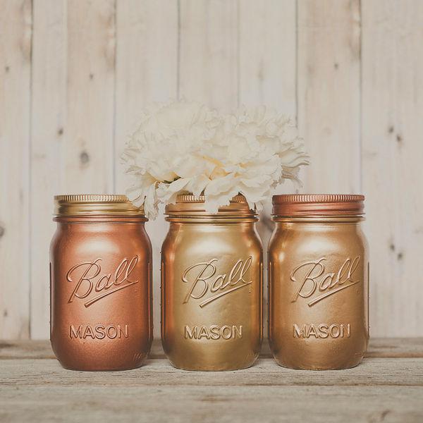 Modern Mason Jar Vases