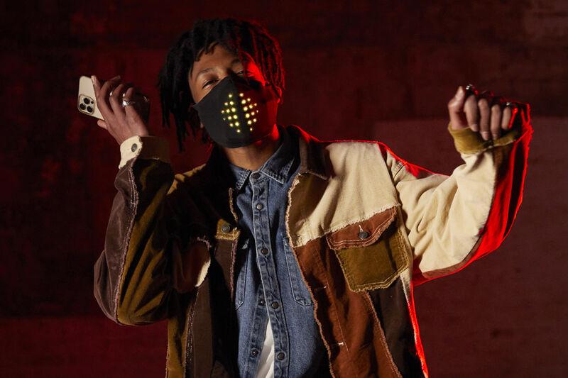 Sound-Reactive LED Face Masks