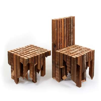 Fragmented Plywood Furnishings