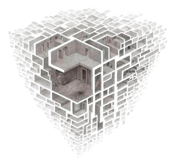 Mind-Bending Maze Drawings
