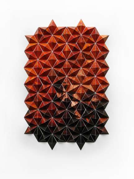 pleated paper art   matt shlian