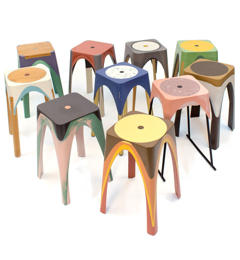 Eclectic Resin Stools