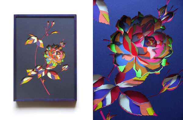 Colorfully Layered Paper Sculptures