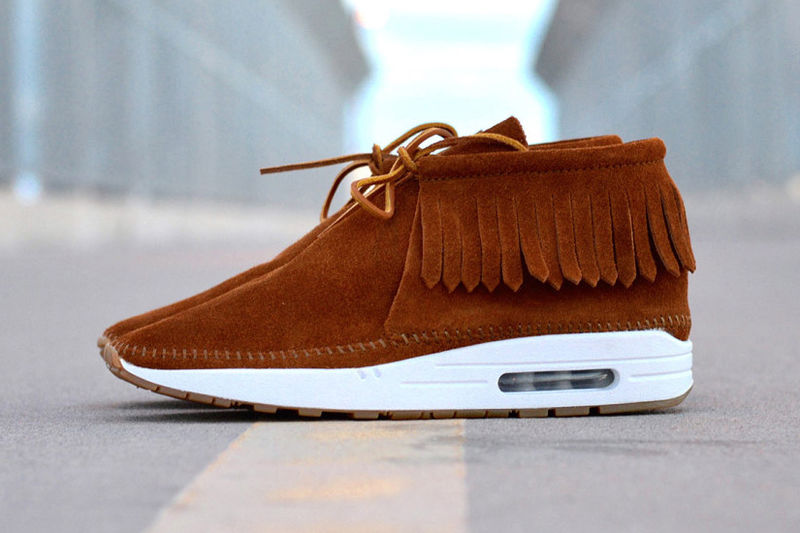 nike air max 1 brown suede loafers