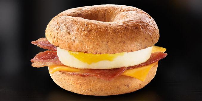 Fast Food Breakfast Bagels : McDonald's Bagels