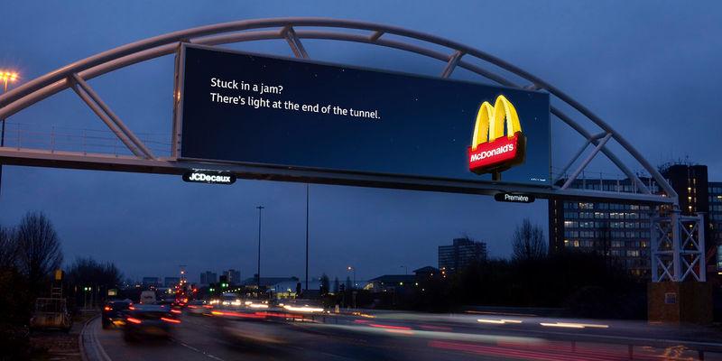 Traffic dependent billboard ads mcdonalds new billboards traffic dependent billboard ads stopboris Images