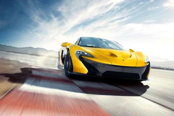 Futuristic Neon Sports Cars
