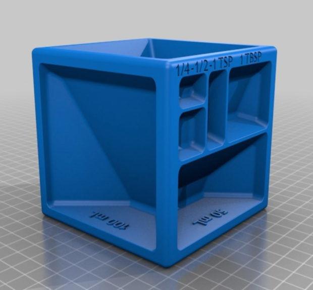 Free Online 3d Kitchen Design Tool: 3D-Printed Measuring Cubes : Measuring Utentil