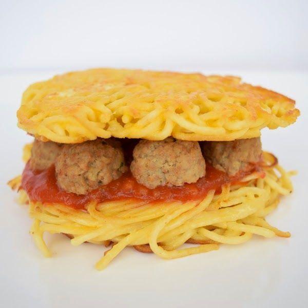 Spaghetti Meatball Burgers