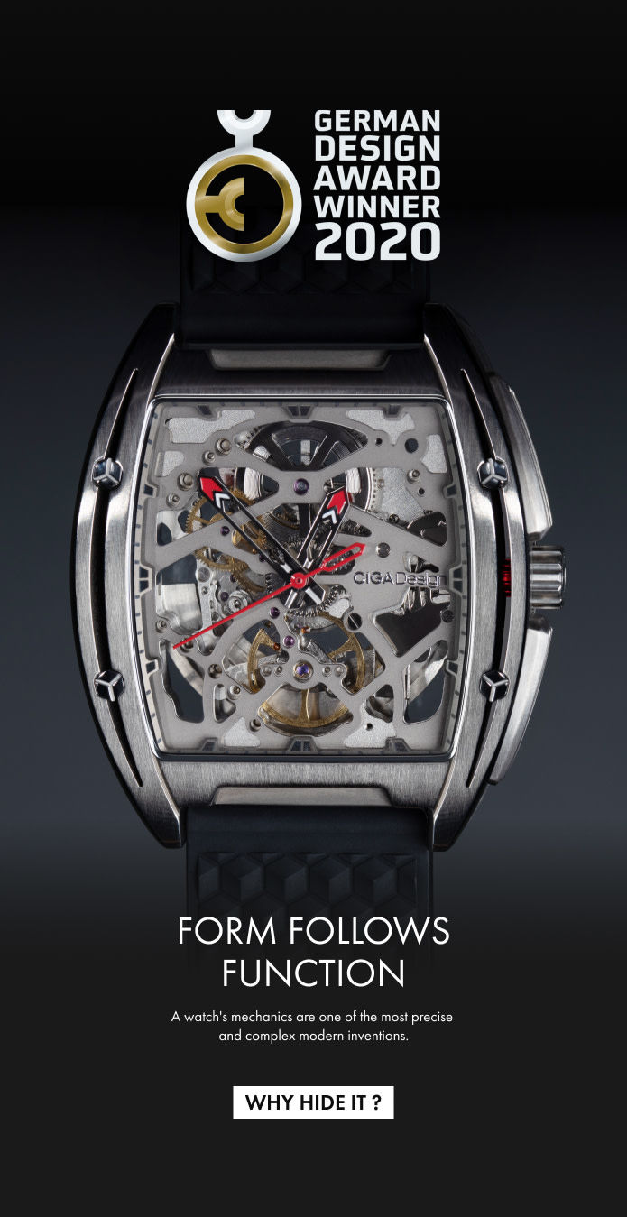 Intricate Mechanical Titanium Watch