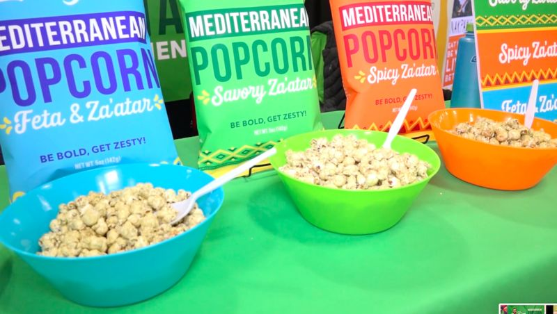 Mediterranean Popcorn Snacks