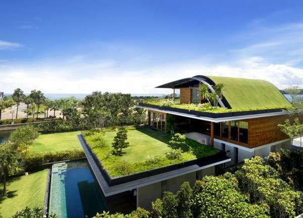 Residential Green Rooftops Meera House By Guz Architects