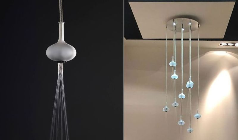 Lighting for showers Cool Elegant Lighting Solution Showers Steamsaunabath Elegant Lighting Solution Showers Melograno Shower Head