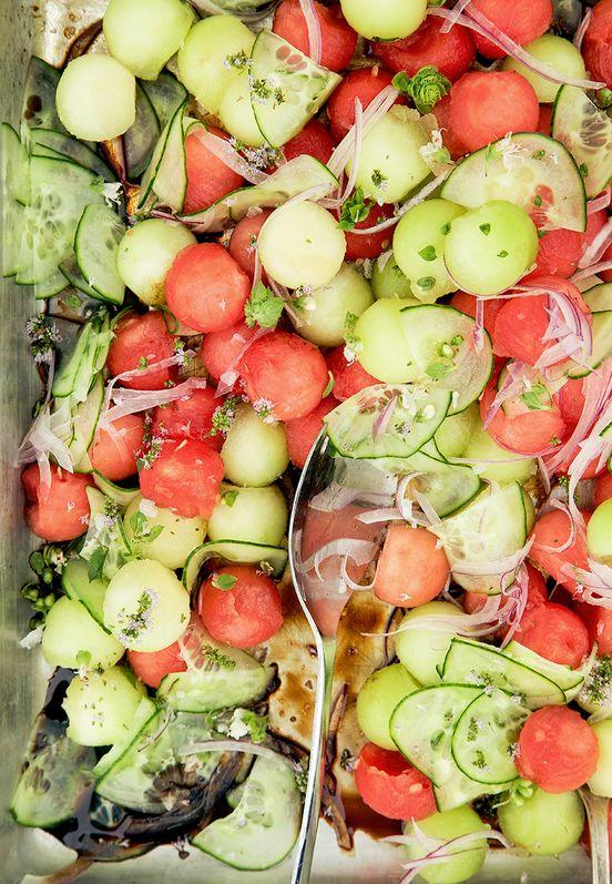 Balsamic Melon Salads