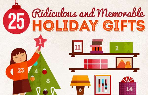 Crazy Christmas Gift Infographics