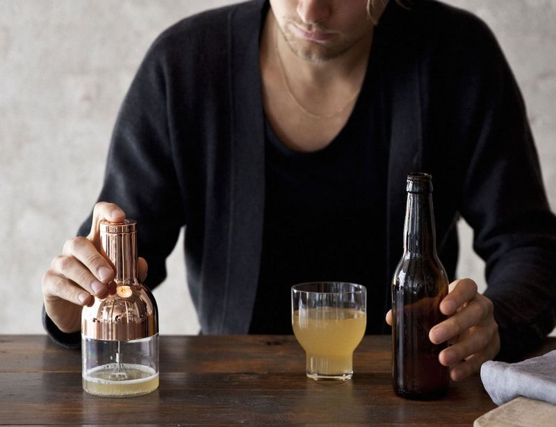 Foam-Intensifying Bartender Tools
