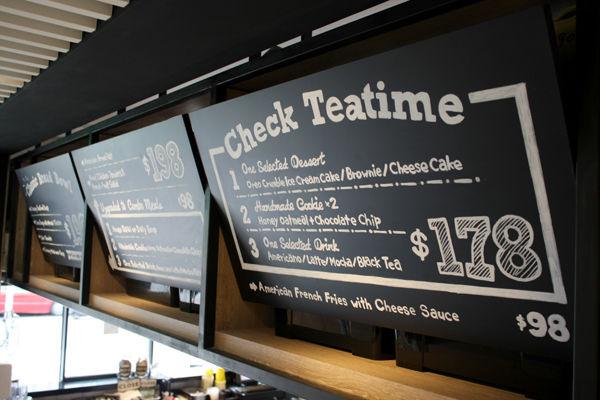 Customizable Chalkboard Menus : menu board design