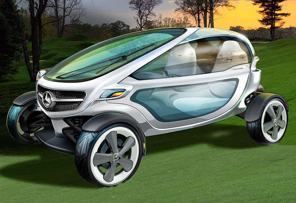 Sleek Futuristic Golf Carts
