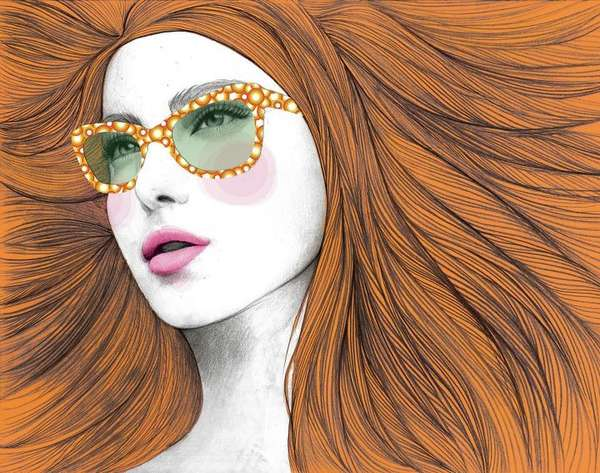 Four-Eyed Fashionista Drawings