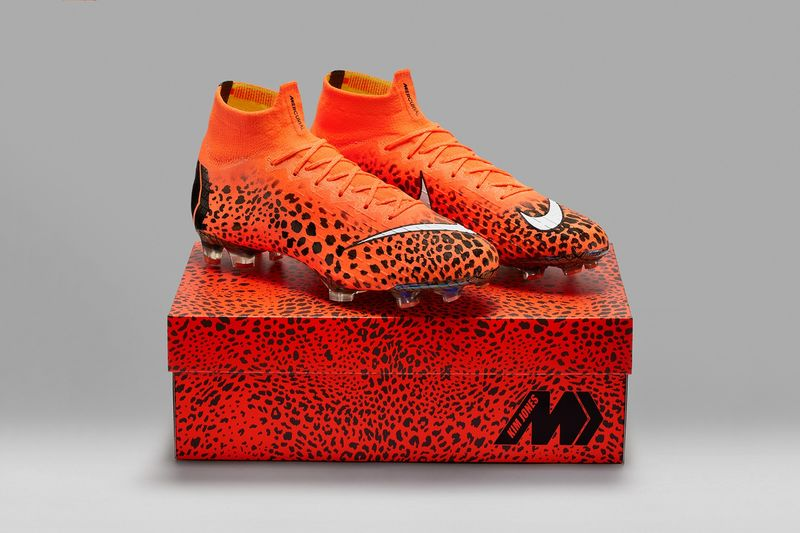 Orange Cheetah Print Cleats