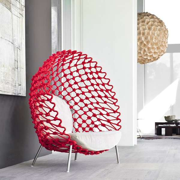Mesh Egg Shaped Furniture Mesh Chair