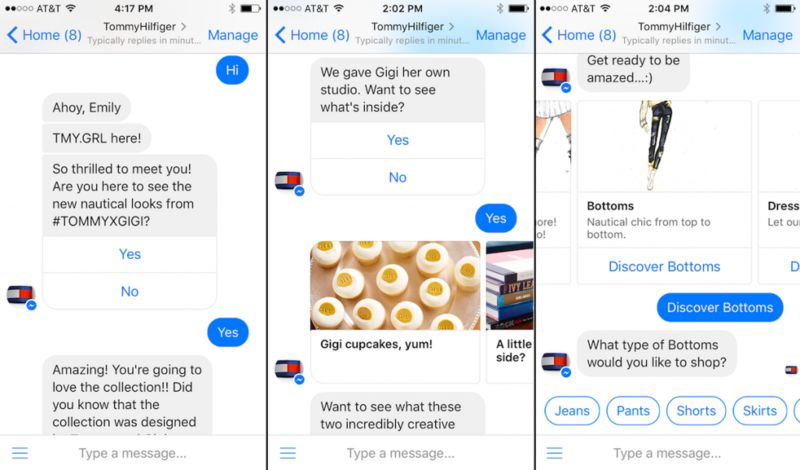 Conversational Fashion Bots