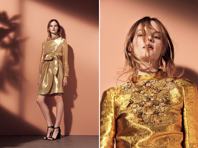 Elegantly Metallic Fashions