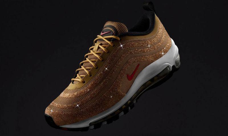 Crystal-Informed Gold Sneakers