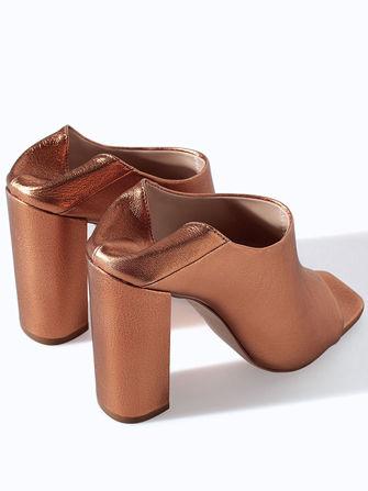 Bronzed Metallic Mules