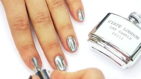 Liquid Chrome Manicures