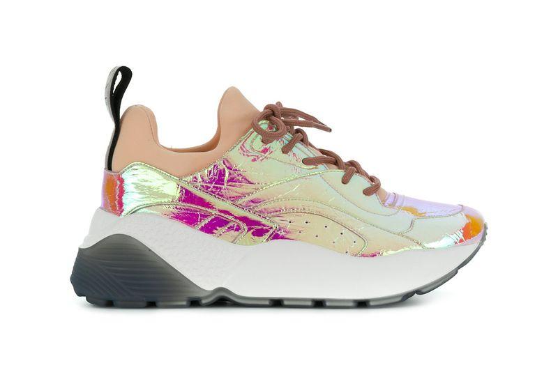 Luxurious Metallic Running Shoes