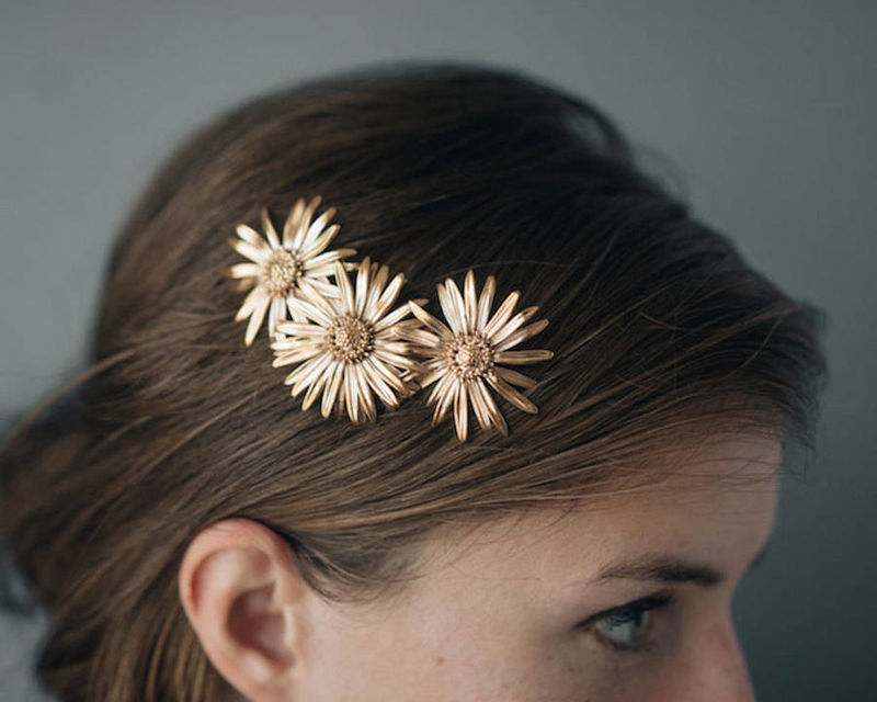 Floral 3D-Printed Jewelry