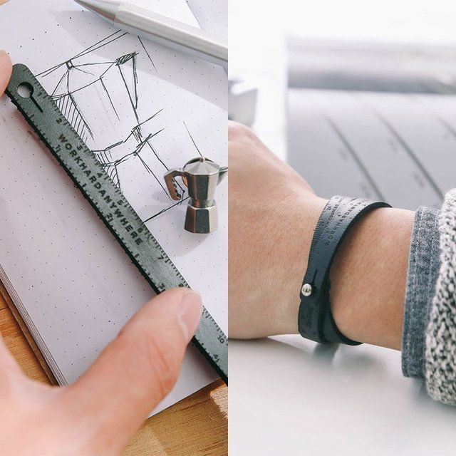 Leather Measuring Wristband