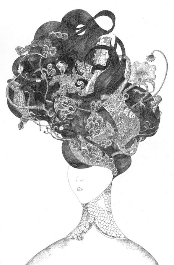 Hair Sculpture Sketches