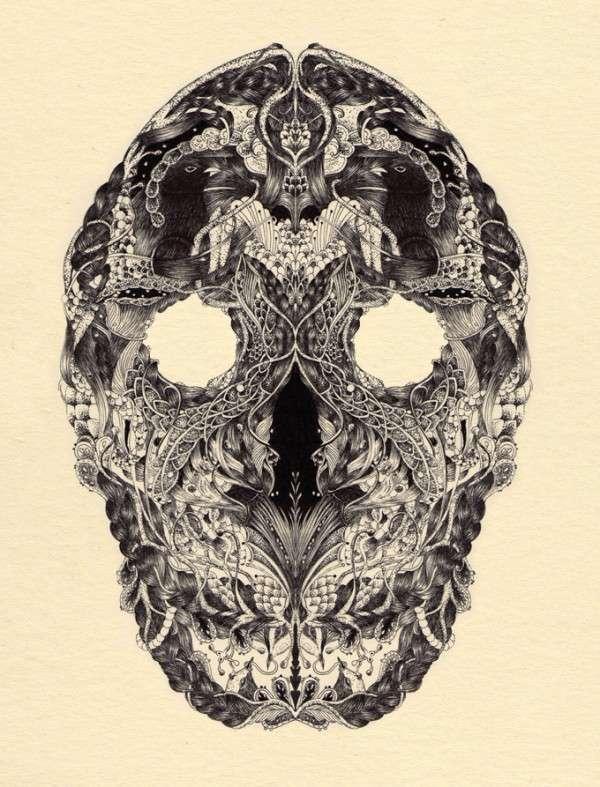 Adorned Skull Illustrations