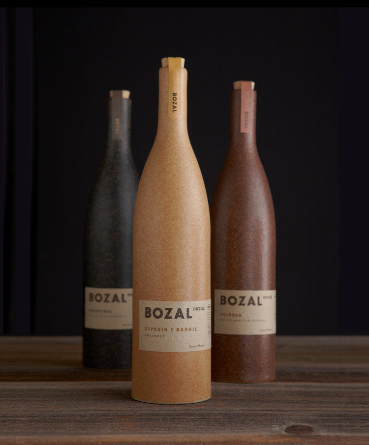Earthy Mezcal Bottle Branding