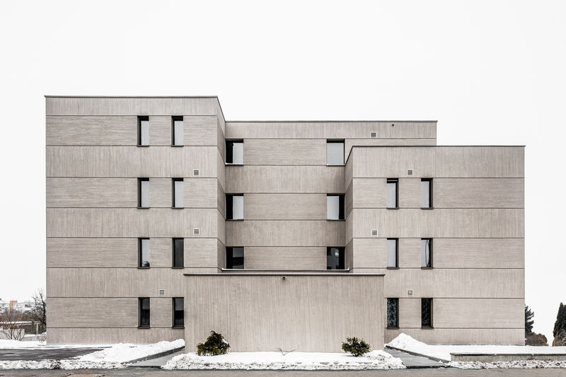 Crosshatched Concrete Balconies