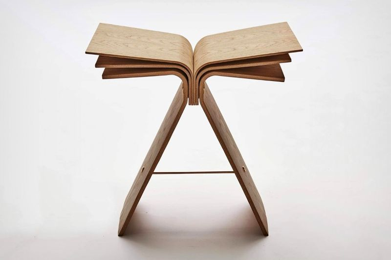 Undulating Plywood Stools