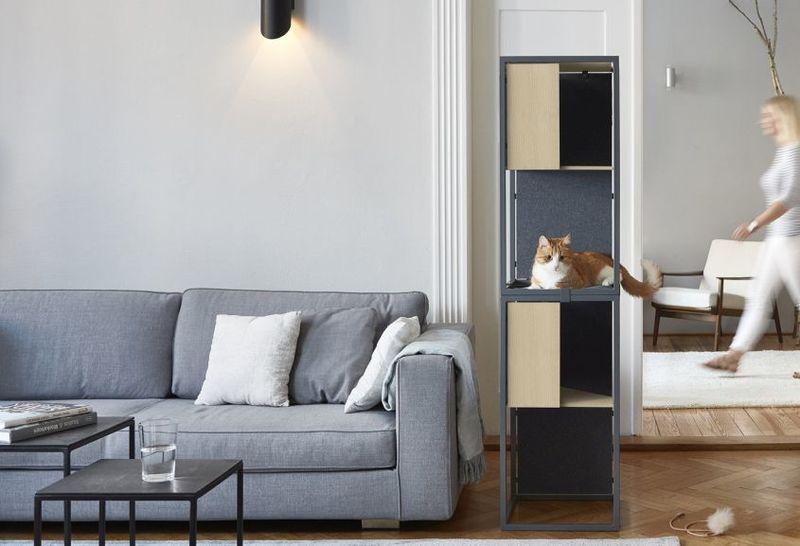 Vertical Modular Feline Furniture