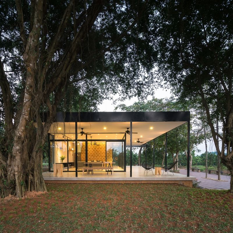 Sunlit Glass Houses