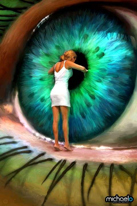 Vibrant Eyeball Art