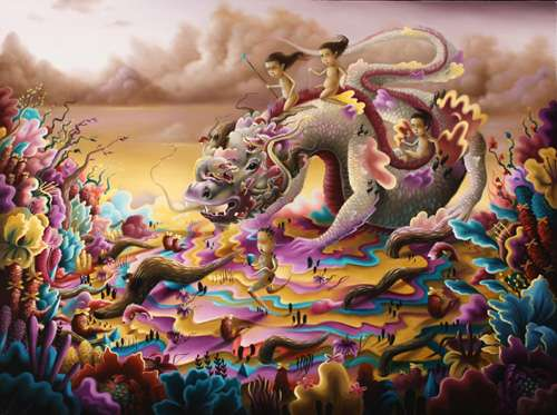 Surreal Beastly Paintings