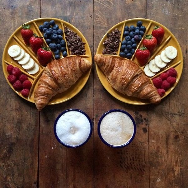 Symmetrical Food Photography