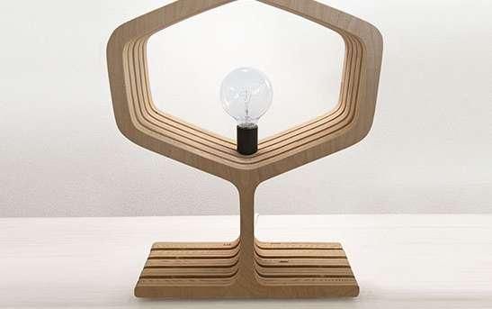 Lumber Ribcage Lamps