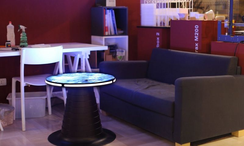 Illuminated Retractable Coffee Tables